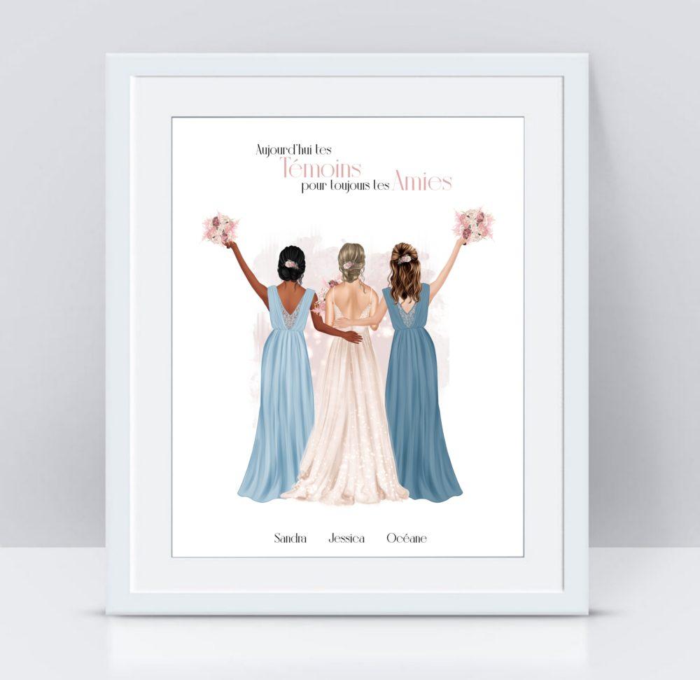 affiche demoiselle d'honneur