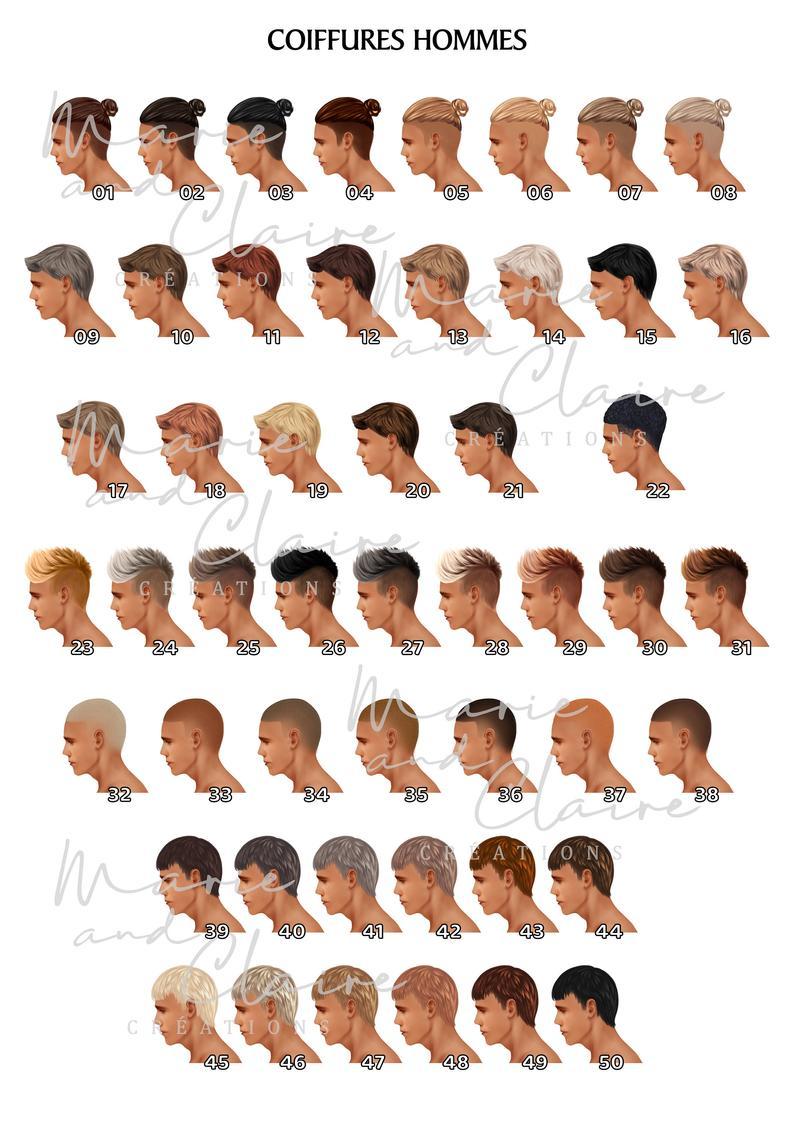 Portrait couple coiffures hommes