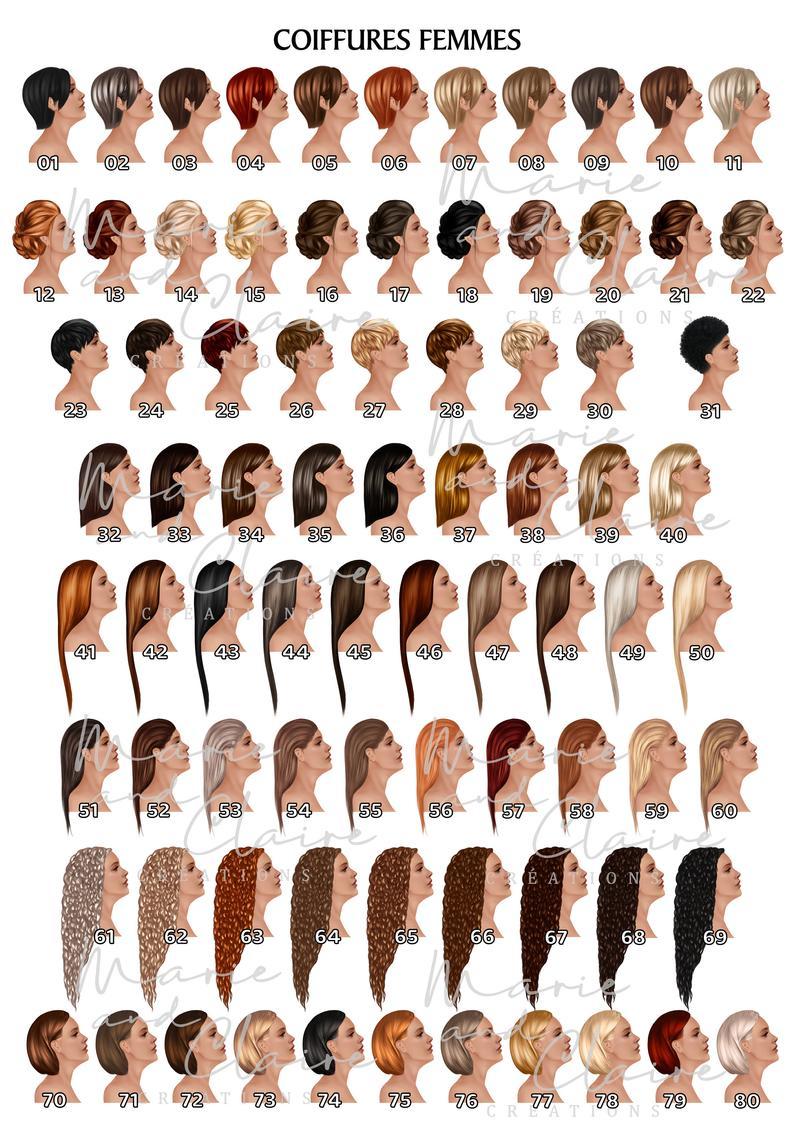 Portrait coiffures femmes