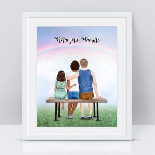 affiche famille personnalisé