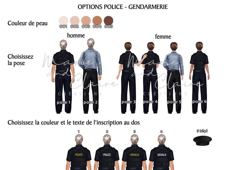 Portrait police et collégue