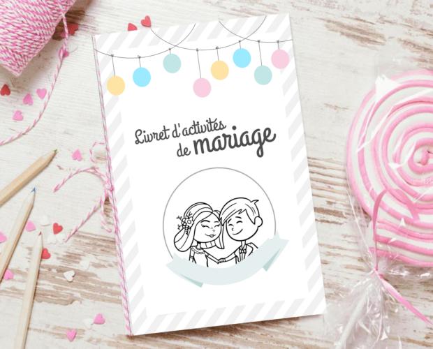 Livret d'activités de mariage enfants gratuit