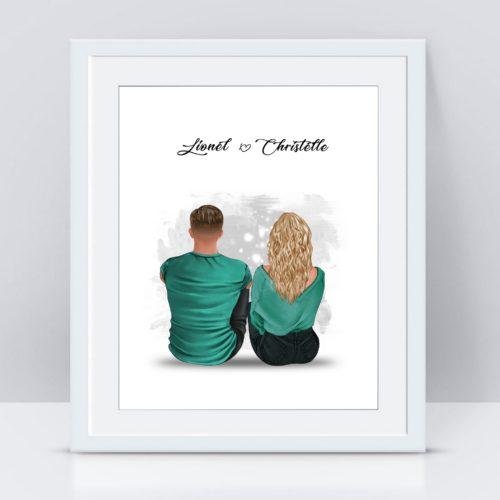 portrait couple personnalisé